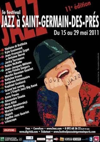 Affiche - Jazz à Saint-Germain-des-Prés, 2011