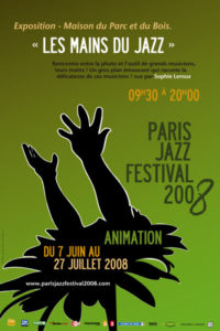 Affiche de l'exposition Le jazz au bout des doigts au Paris Jazz Festival, 2008