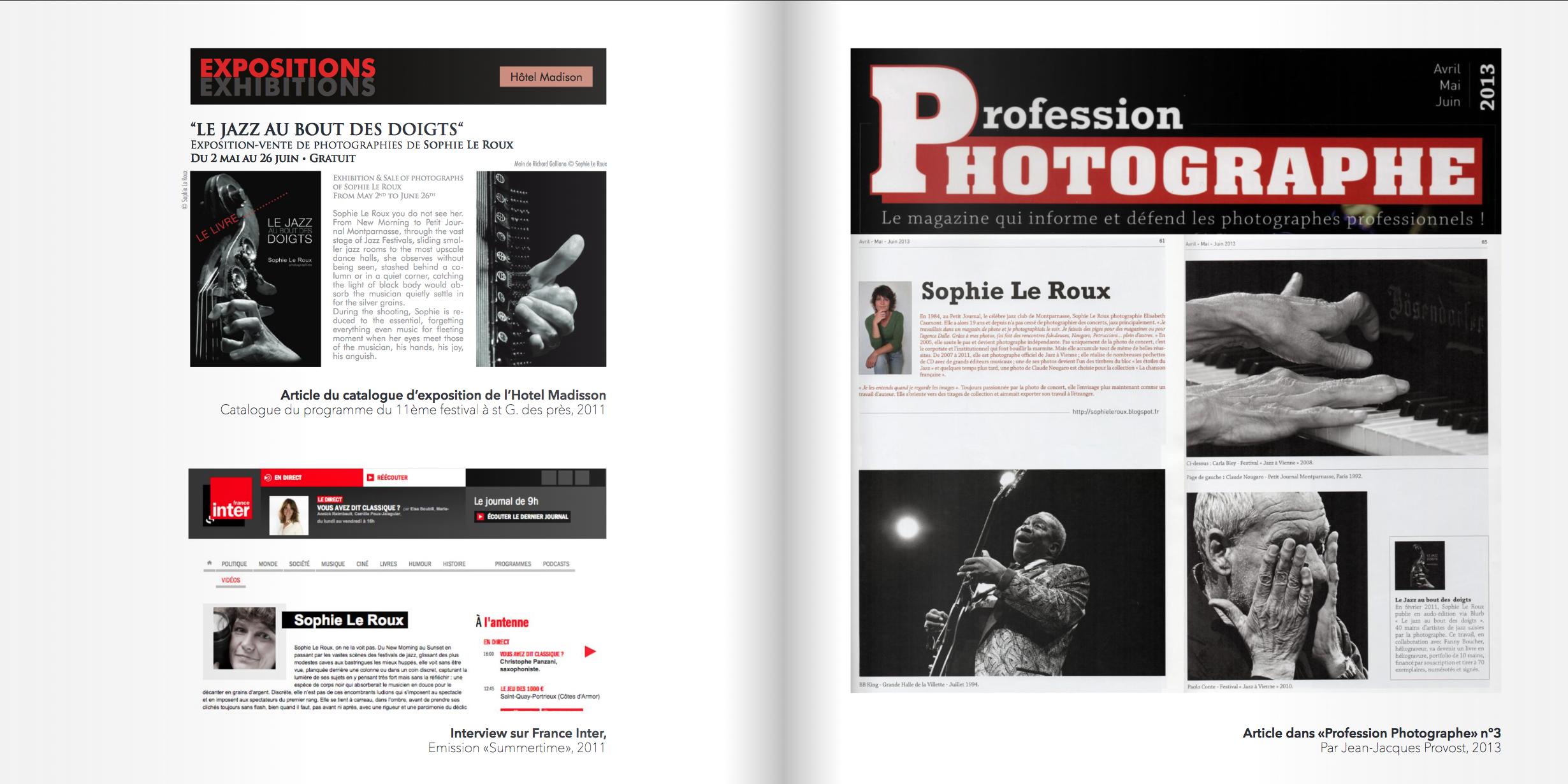 articles 2 dossier de presse Sophie LE ROUX