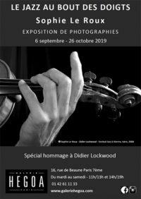 affiche expo Le jazz au bout des doigts Galerie Hegoa Octobre 2019 | ©SophieLeRoux
