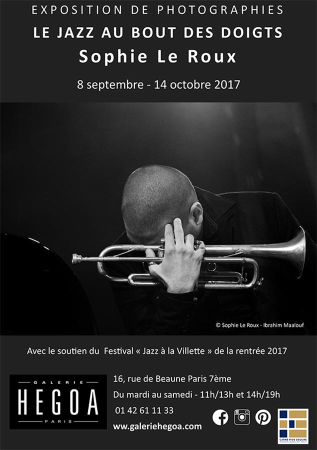 Sophie le Roux - Affiche de l'exposition Le jazz au bout des doigts